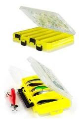Коробка для приманок Pontoon21 LCB двусторонняя 206*170*42, желтая./верх прозр #145-P21-Y