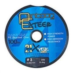 Леска плетеная Pontoon21 Exteer, 0.148 мм, 10Lb, 100м, св.сер., 4-жил. P21-PER-010G
