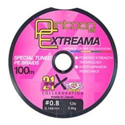 Леска плетеная Pontoon21 Extreama, 0.205 мм, 20Lb, 100м, многоцв., 4-жил. P21-PEA-20MC