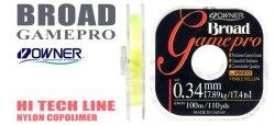 Леска OWNER B. GAME PRO 56033, 100 м., 0.42 мм, желтая BGP-Y-0.42mm