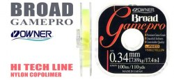 Леска OWNER B. GAME PRO 56033, 100 м., 0.38 мм, желтая BGP-Y-0.38mm