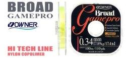 Леска OWNER B. GAME PRO 56033, 100 м., 0.20 мм, желтая BGP-Y-0.20mm