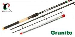 Фидер BRISCOLA GRANITO, Medium, 427см, 4 ч, Tip: 28 гр, 56 гр, 84 гр. GRN424M