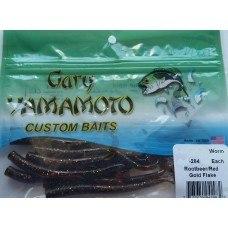 """Червь Gary Yamamoto Worms4"""": 10 см, 10 шт. в уп., цв.284 GY-4-10-284"""