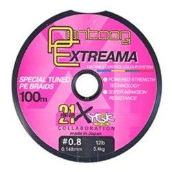 Леска плетеная Pontoon21 Extreama, 0.235 мм, 28Lb, 100м, многоцв., 4-жил. P21-PEA-28MC наличие
