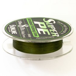 Плетенка Sunline Super PE 150 м (темно-зеленый) №5 0,370 мм 50LB 22,5кг