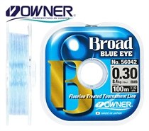 Леска нейлоновая OWNER BROAD Blue Eye, Light Blue, 100м, 0.10mm OWN-BBE-100-0.10 светло-голубая