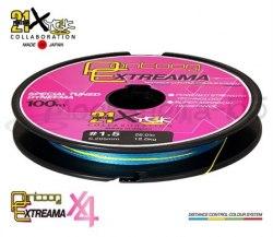 Леска плетеная Pontoon21 Extreama новая, 4-жил., J.S. 0.6, 0.128 мм, 9.5Lb, 4.5 кг, многоцветная P21-UPEA-095MC
