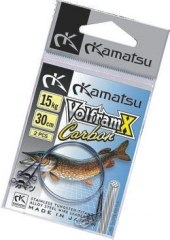 Поводок KAMATSU VolframX carbon (уп./ 2шт) 20kg 20cm