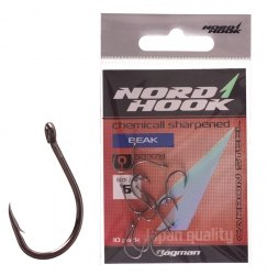 Крючки NORD HOOK Beak 5337B №4 черные