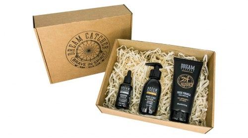 Подарочный набор 3: шампунь для бороды, масло для бороды, гель для душа + КРУЖКА DREAM CATCHER