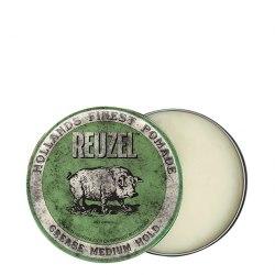 Зеленая помада для укладки средней фиксации Grease Medium Hold, 35 г Reuzel