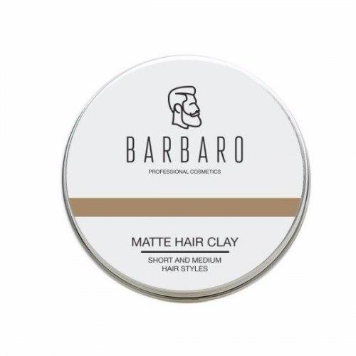 Матовая глина для укладки волос, 60 гр. BARBARO