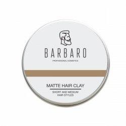 Матовая глина для укладки волос, 100 гр. BARBARO