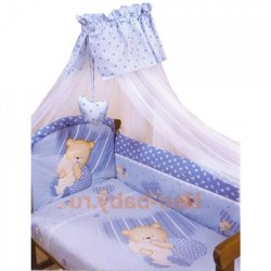 Постель детская с балдахином Золотой Гусь Мишутка (голубой)