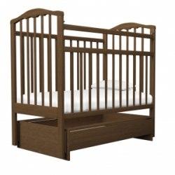 Детская кроватка Агат Золушка 4 (орех)