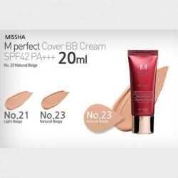 ББ крем MISSHA Perfect Cover BB Cream SPF42/PA+++ 20 мл
