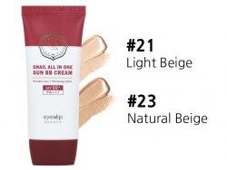 Многофункциональный солнцезащитный ББ-крем с муцином улитки EYENLIP Snail All In One Sun BB Cream SPF50+ PA+++