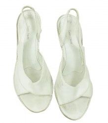 Белые босоножки на среднем каблуке Laura Zinelli 2889