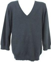 Черный пуловер с треугольным вырезом Marks&Spencer 3254