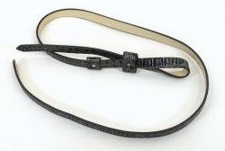Черно-серый ремень со змеиным принтом SILVIAN HEACH 3582