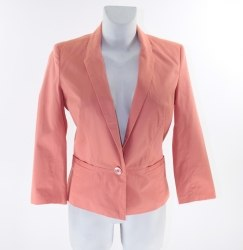 Персиковый пиджак с застежкой на одну пуговицу Reserverd 3610