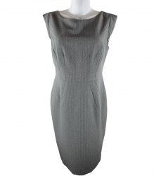 Серое деловое платье F&F 145