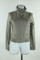 Серая хлопковая куртка на молнии Influence 598