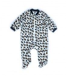 Леопардовый комбинезон-человечек 6745