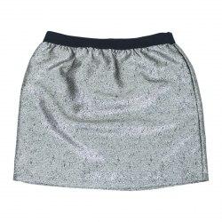 Блестящая юбка на поясе-резинке NOVO STYLE 7062