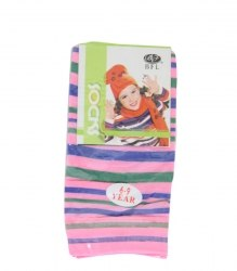 Розовые капроновые носочки Beifalai 8289