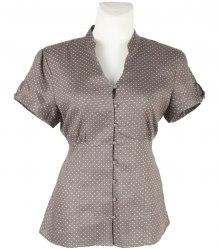 Льняная блуза в горохи TU 8910