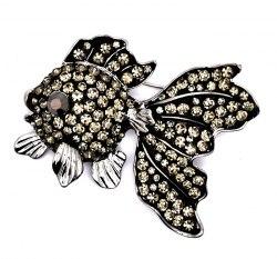 Брошь Золотая рыбка b-176