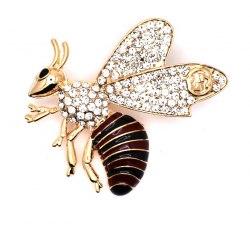 Брошь Пчела желтая b-180