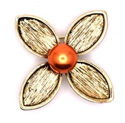 Брошь Цветок латунь b-184