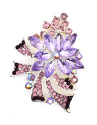 Брошь Фиолетовая b-012