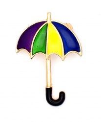 Брошь Зонтик радуга b-145