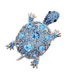 Брошь Черепаха синяя b-185
