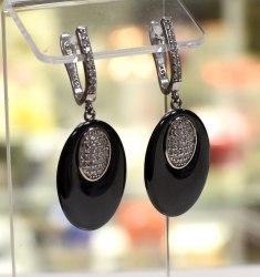 Серьги Керамика черная 5 s-186
