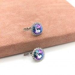 Серьги с кристаллом 27 S-0056