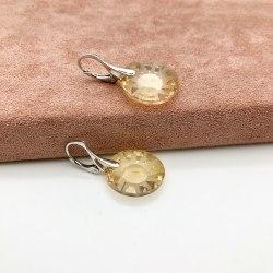 Серьги с кристаллом 43 S-00125