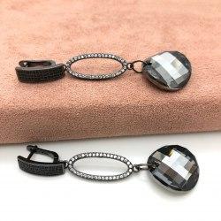 Серьги с кристаллом 47 S-00129