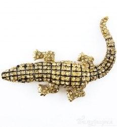 Брошь Крокодил b-031