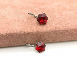 Серьги с кристаллом 63 S-00145