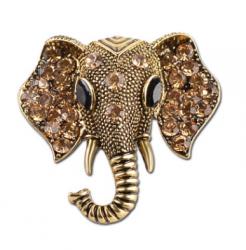 Брошь Слон в золоте b-032