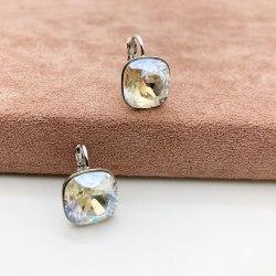 Серьги с кристаллом 66 S-00148
