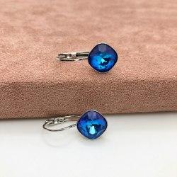 Серьги с кристаллом 69 S-00151