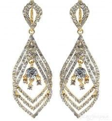 Серьги свадебные 1 с кристаллами s-107