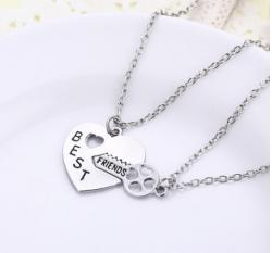 Парные кулоны ключ-сердце p-045