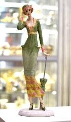 """Статуэтка """"Дама с зонтиком"""" art.10207"""
